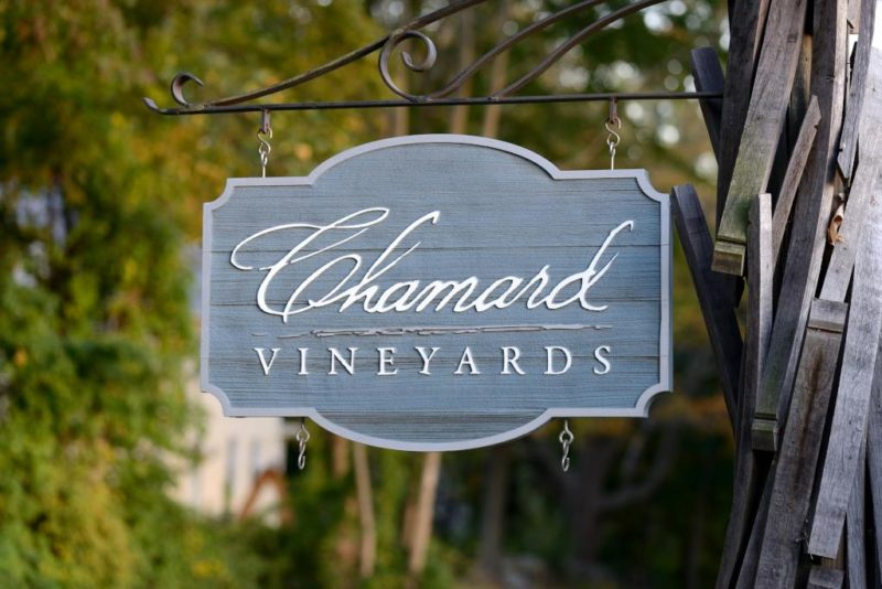Chamard Vineyards Sign